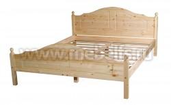 Кровать двуспальная деревянная К2 140х200 из сосны.