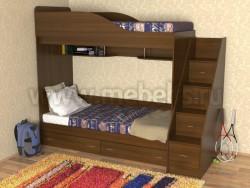 Кровать двухъярусная с лестницей-ящиками Дуэт (ОЭ).