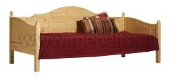 Односпальная кровать тахта K3 (Кая) 90x200 из массива сосны.