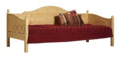Односпальная кровать тахта K3 70x150 из массива сосны.