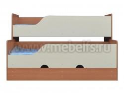 Двухъярусная выдвижная кровать Фунтик-3 В/Б (70х160см) с матрасами.