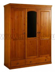 Трехстворчатый шкаф Дания №2 из массива сосны.