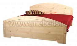 Двуспальная кровать Инга 160х200 из массива сосны.