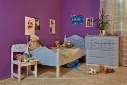 Кровать односпальная К2 70х190 детская из массива.