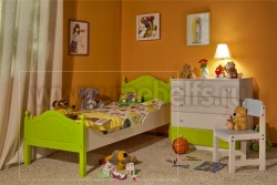 Кровать односпальная К2 80х190 детская из массива.