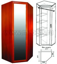 Угловой шкаф с зеркалом (арт.439)