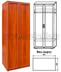 Шкаф для одежды двухстворчатый (арт.430)