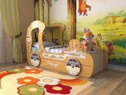 Детская кровать карета 70х160 с ящиками (оранжевый).