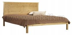Двуспальная деревянная кровать T1 140х190 из сосны.