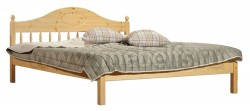 Односпальная кровать F1 (70х150см) из массива сосны.
