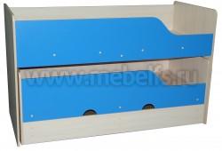 Двухъярусная выдвижная кровать Фунтик-3 ДМ/С (70х160см) с матрасами.