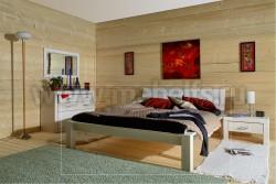 Двуспальная кровать Брамминг-2 140х200 из массива.