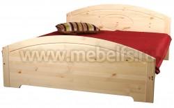 Двуспальная кровать Инга 140х190 из массива сосны.