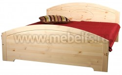 Двуспальная кровать Инга 180х190 из массива сосны.