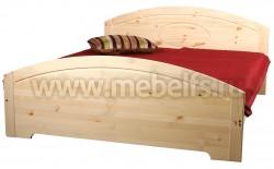 Односпальная кровать Инга 120х200 из сосны.