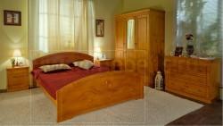 Двуспальная деревянная кровать Элина 140х190 из сосны.