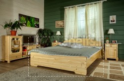 Двуспальная деревянная кровать Эрика 180х190 из сосны.