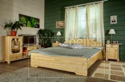 Двуспальная деревянная кровать Эрика 140х200 из сосны.