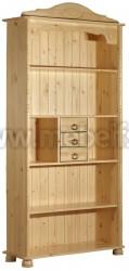 Книжный шкаф Айно №2 с ящиками из массива сосны.