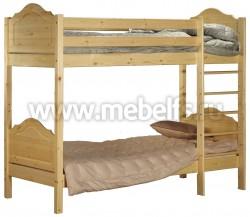 Двухъярусная детская кровать К2 (Кая) 70х150см из сосны.