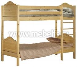 Двухъярусная детская кровать К2 (Кая) 60х120см из сосны.