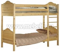 Двухъярусная детская кровать из сосны К2 (70х190см).