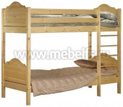 Двухъярусная детская кровать из сосны К2 (80х200см).