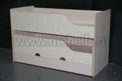 Двухъярусная выдвижная кровать Фунтик-3 ДМ/Ван (70х160см) с матрасами.