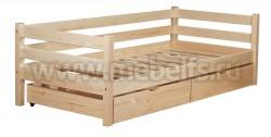 Односпальная кровать тахта Классика 80х200 с ящиками