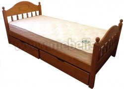Односпальная кровать F2 (Фрея) 80х190 с двумя ящиками