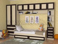 Модульная мебель для детской комнаты - УШ3 с кроватью (ДМВ).