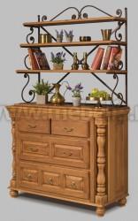 Комод Валенсия арт.2-27 с ящиками и стеллажом из массива дерева