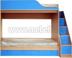 Кровать двухъярусная с лестницей-ящиками Дуэт (БС).
