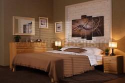 Двуспальная кровать с мягким изголовьем Классика 160х200/1