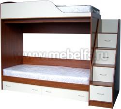 Кровать двухъярусная с лестницей-ящиками Дуэт (ЯВ).