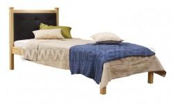 Односпальная кровать с мягким изголовьем Дания-1/1 80х200см