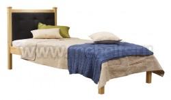 Односпальная кровать с мягким изголовьем Дания-1/1 90х200см