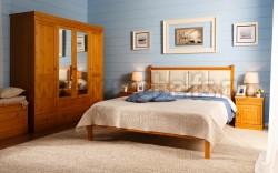 Двуспальная кровать с мягким изголовьем Дания-1/1 160х200см