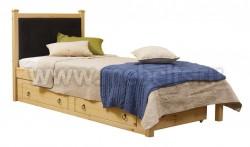 Кровать с мягким изголовьем Дания-1/1 80х200см и ящиком