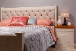 Двуспальная кровать с мягким изголовьем Дания-1 140х190см