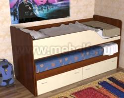 Детская двухъярусная выдвижная кровать с ящиками Дуэт-2 (ЯВ).