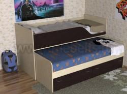 Детская двухъярусная выдвижная кровать с ящиками Дуэт-2 (ДМВ).