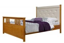 Двуспальная кровать с мягким изголовьем Дания-2 140х190см