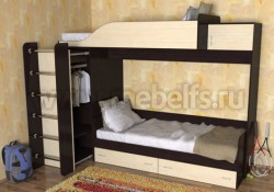 Двухъярусная кровать со шкафом Дуэт-3 (ВДМ).