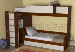 Двухъярусная кровать со шкафом Дуэт-3 (ЯВ).