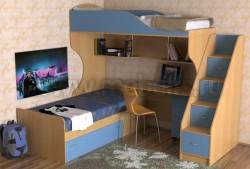 Двухъярусная кровать с диваном Дуэт-5.2 (БС).