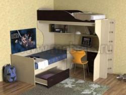 Двухъярусная кровать с диваном Дуэт-5 (ДМВ).