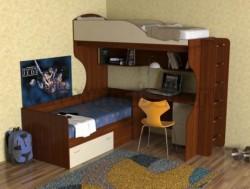 Двухъярусная кровать с диваном Дуэт-5 (ЯВ).