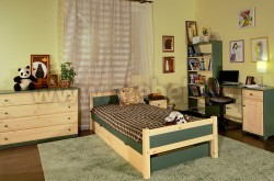Односпальная кровать Сона 60х120 с выдвижными ящиками