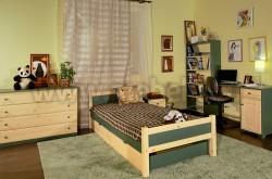 Односпальная кровать Сона 90х200 с выдвижными ящиками